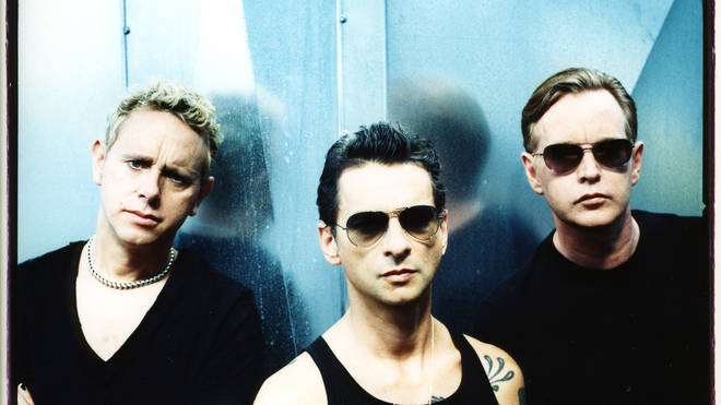 Depeche Mode in 2005: Martin Gore, Dave Gahan and Andrew Fletcher