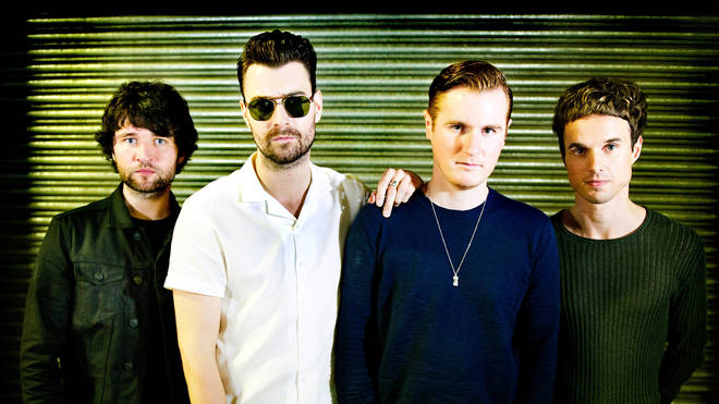 Courteeners in 2014: Michael Campbell, Liam Fray, Daniel 'Conan' Moores and Mark Cuppello