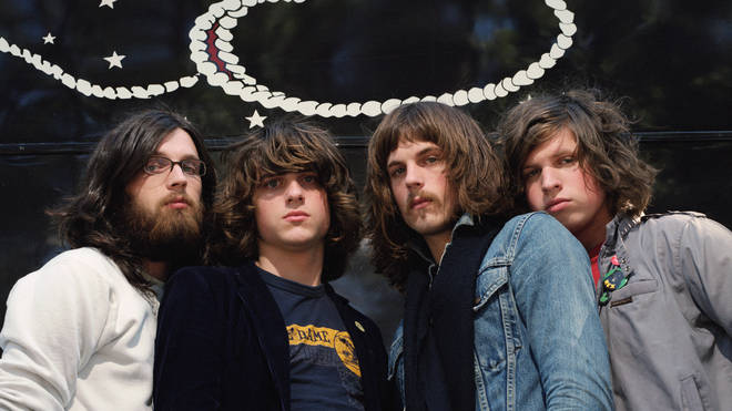 KIngs Of Leon in 2003: Caleb Followill, Matthew Followill, Nathan Followill, and Jared Followil