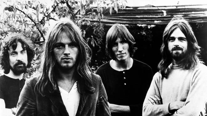 Pink Floyd in 1973: Nick Mason, Dave Gilmour, Roger Waters and Rick Wright