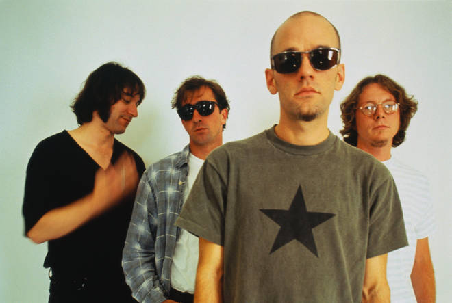 R.E.M. in 1994: Peter Buck, Bill Berry, Michael Stipe and Mike Mills