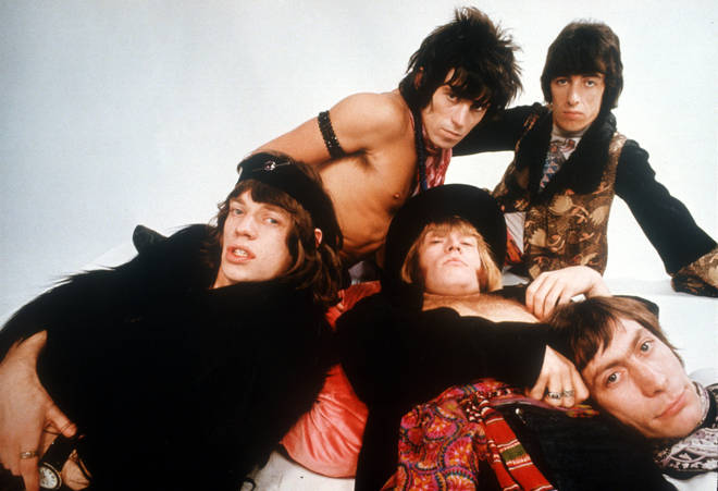 The Rolling Stones in 1968: Keith Richards, Bill Wyman, Charlie Watts, Brian Jones, Mick Jagger.