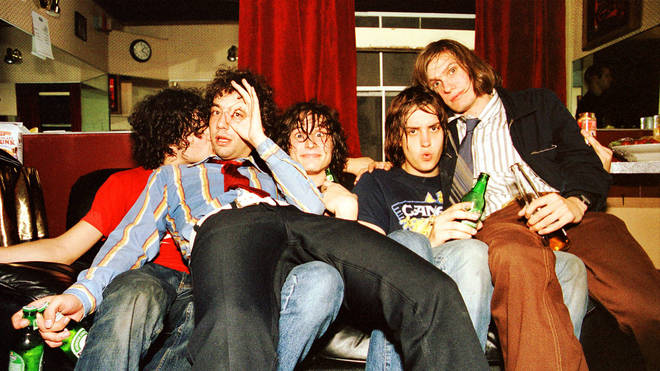 The Strokes in 2001: Fabrizio Moretti, Albert Hammond Jr, Nick Valensi, Julian Casablancas and Nikolai Fraiture.