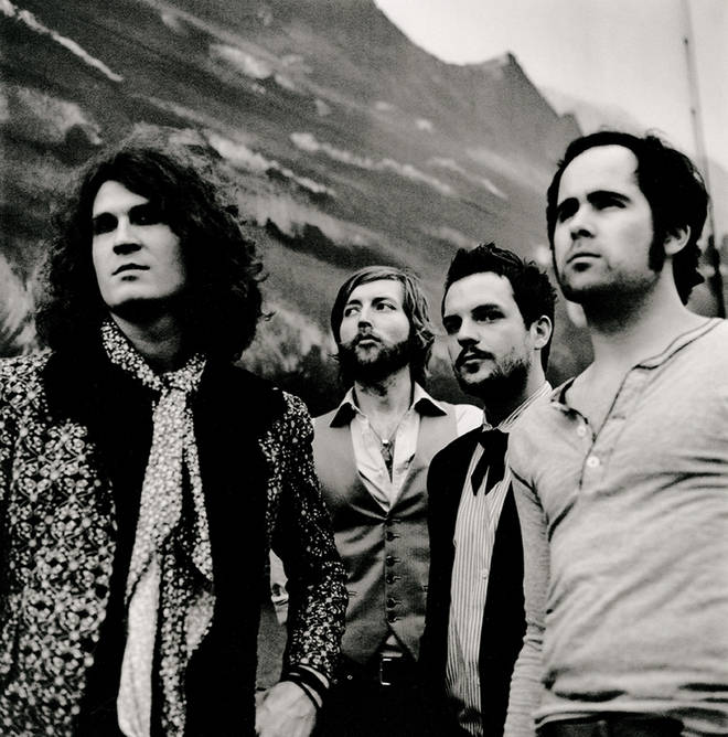 The Killers in 2007: Dave Keuning, Mark Stoermer, Brandon Flowers and Ronnie Vannuci Jr