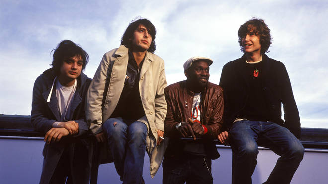The LIbertines in 2002: Pete Doherty, Carl Barat, Gary Powell, John Hassall