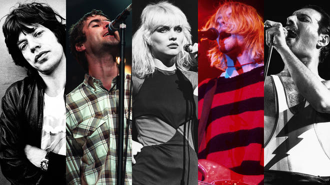 Mick Jagger, Liam Gallagher, Debbie Harry, Kurt Cobain and Freddie Mercury