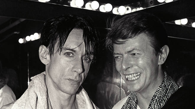Iggy Pop and David Bowie in 1986