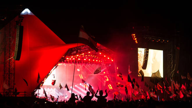 Pyramid Stage at the Glastonbury Festival 2017