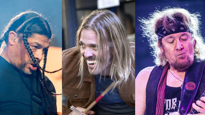 Robert Trujillo, Taylor Hawkins and Adrian Smith captured during jam session