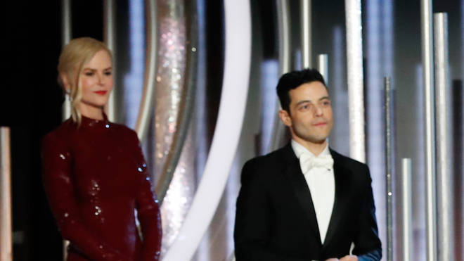 Nicole Kidman and Rami Malek at the 76th Annual Golden Globes on January 6 2019
