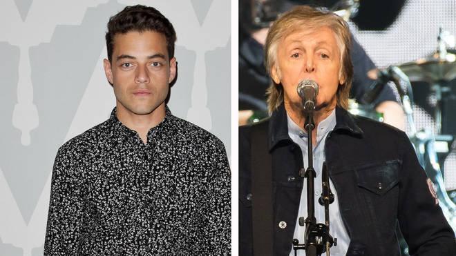 Rami Malek and Paul McCartney