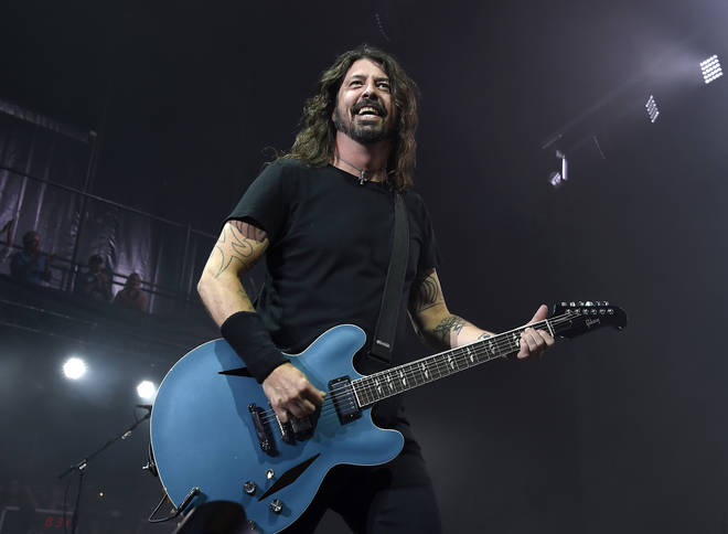 Dave Grohl of Foo Fighters performs on stage at Jones Beach Theater on July 14, 2018 in Wantagh, New York