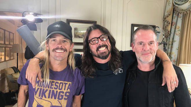 Taylor Hawkins, Dave Grohl and Chris Moyles, 2017
