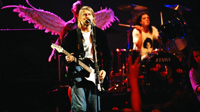 NIrvana live onstage during the In Utero tour