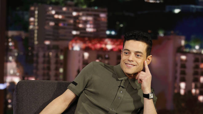 Rami Malek attends the Jimmy Kimmel Live show in January 2019