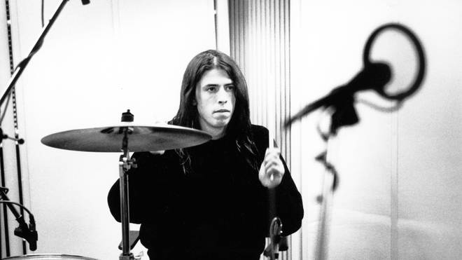 Dave Grohl recording in Hilversum Studios, November 1991.