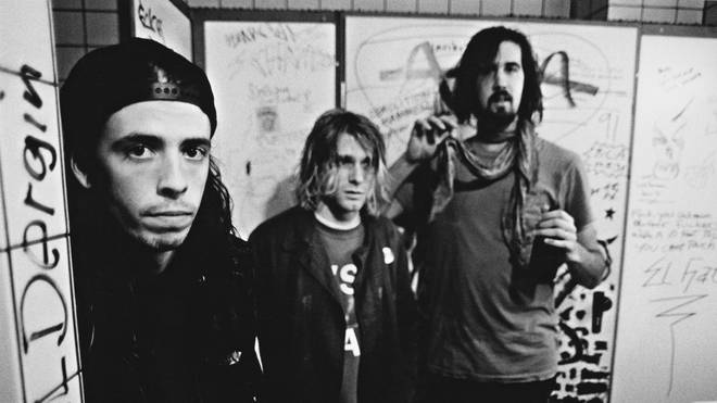 Nirvana, backstage in Frankfurt, Germany, 12th November 1991