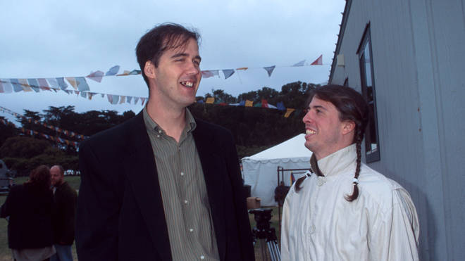 Krist Novoselic and Dave Grohl of Nirvana