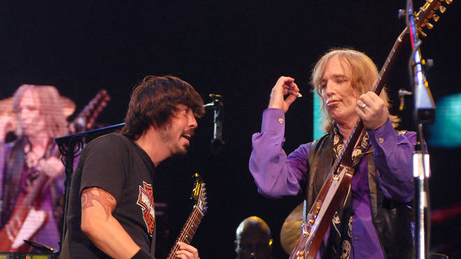 Dave Grohl of Foo Fighters performs with Tom Petty and the Heartbreakers