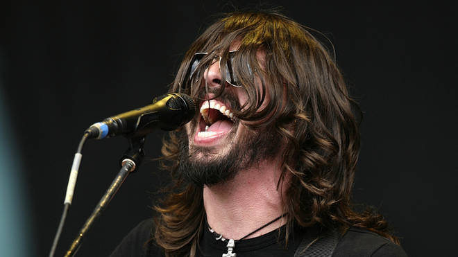 Dave Grohl of Foo Fighters plays a secret gig at the V Festival at Hylands Park in Chelmsford, Essex, 2007