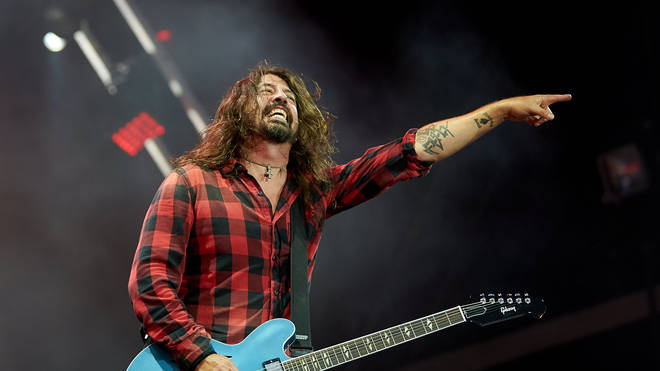 Dave Grohl on stage at Rock am Ring in 2018
