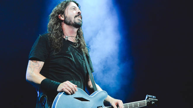 Foo Fighters onstage in Rio, 2018