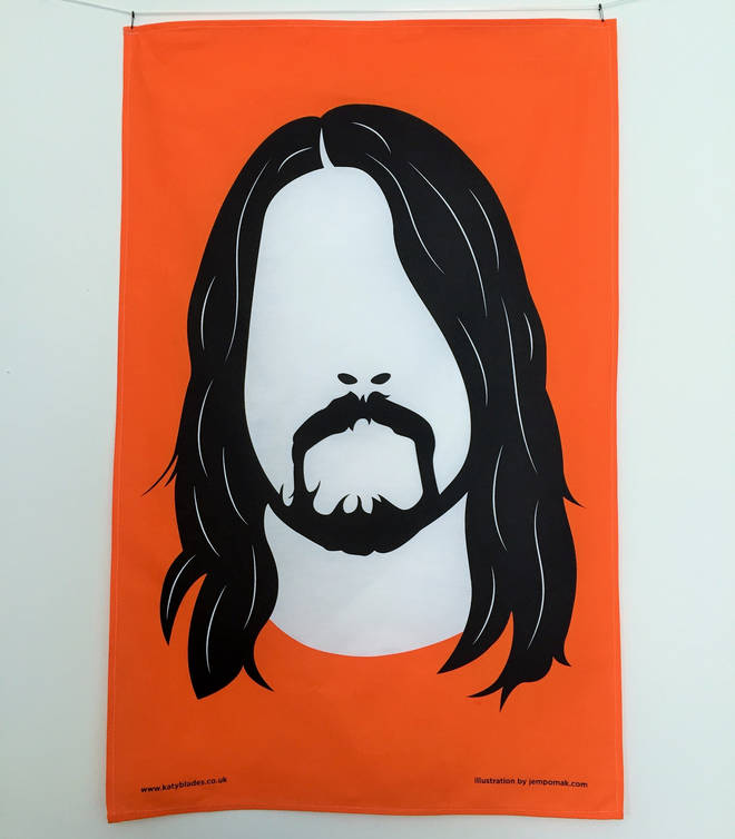 Dave Grohl image tea towel
