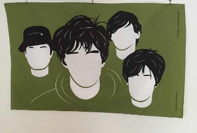 The Stone Roses image tea towel