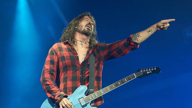 Foo Fighters' frontman Dave Grohl at Rock am Ring 2018