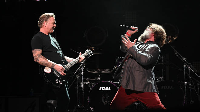 Metallica's James Hetfield and Jack Black
