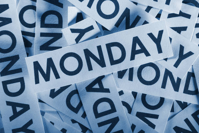 Blue Monday stock image