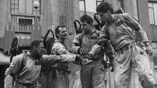 Ernie Hudson, Bill Murray, Dan Aykroyd and Harold Ramis in Ghostbusters (1984)