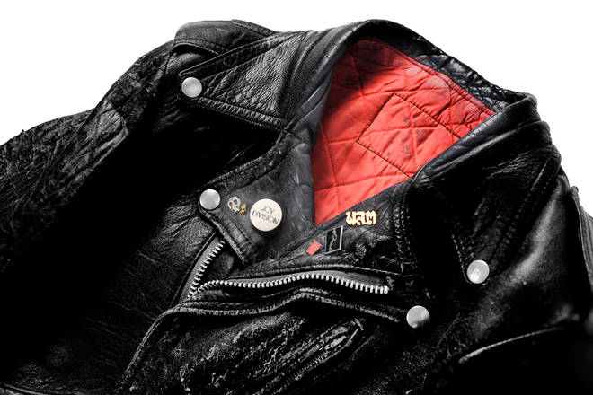 Peter Hook's orginal leather jacket from 1977