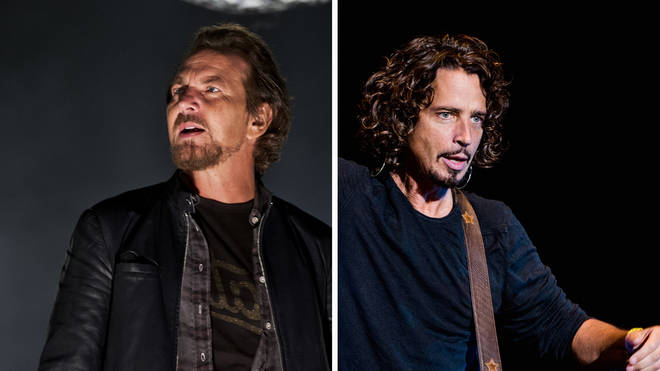 Pearl Jam's Eddie Vedder and the late Chris Cornell