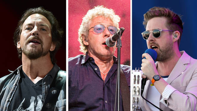 Pearl Jam's Eddie Vedder, The Who's Roger Daltrey and Kaiser Chief's Ricky Wilson