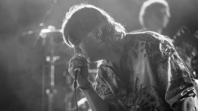 The Strokes frontman Julian Casablancas on day two of FYF Fest 2014