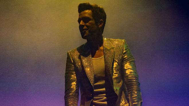 The Killers' Brandon Flowers on stage in 2017