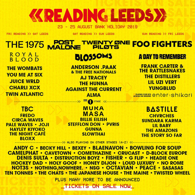 Reading and Leeds festivals poster 2019
