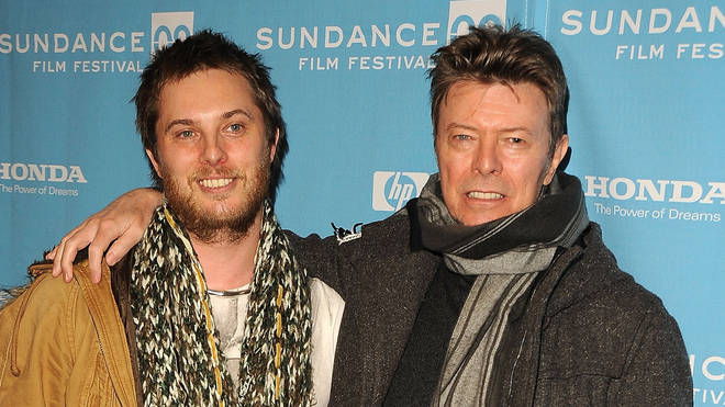 Duncan Jones and his late father David Bowie