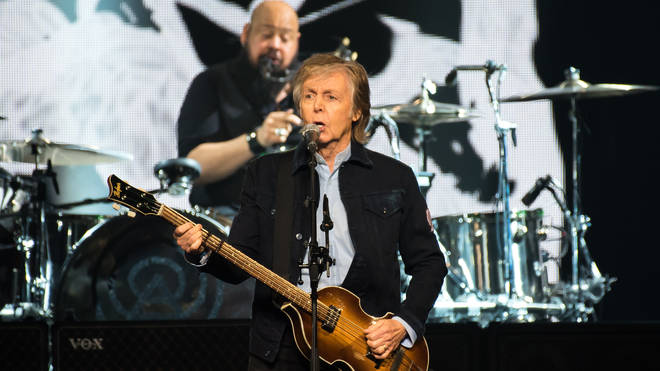 Paul McCartney live on stage at The O2, London during his 'Freshen Up' tour in 2018