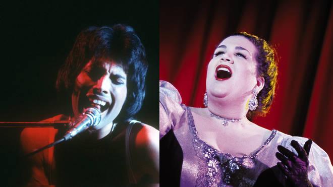 Freddie Mercury and an opera singer
