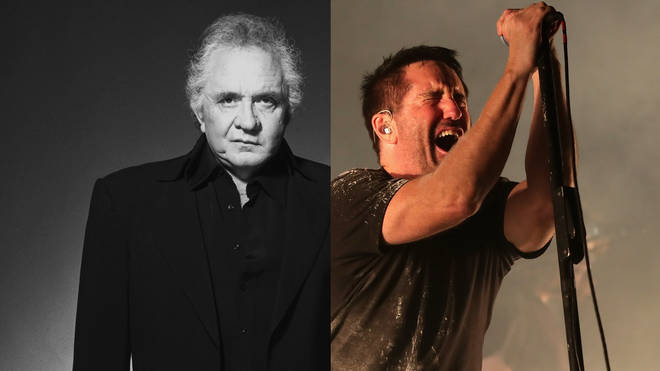 Johnny Cash and Trent Reznor of Nine Inch Nails