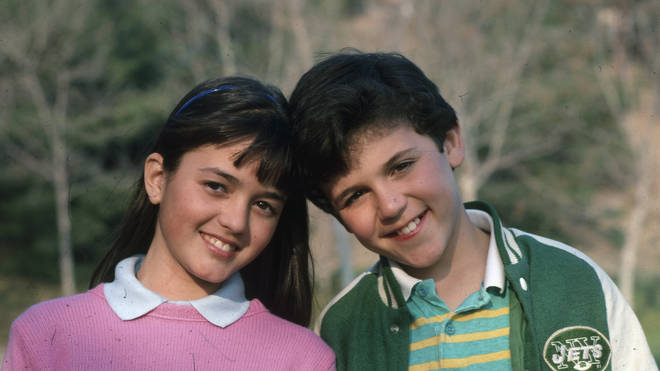 Danica McKellar and Fred Savage in The Wonder Years, 1988