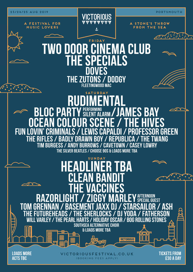 Victorious Festival poster 2019