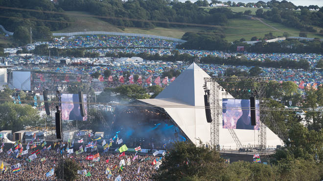 The Pyramid Stage at Worth Farm at Glastonbury 2017