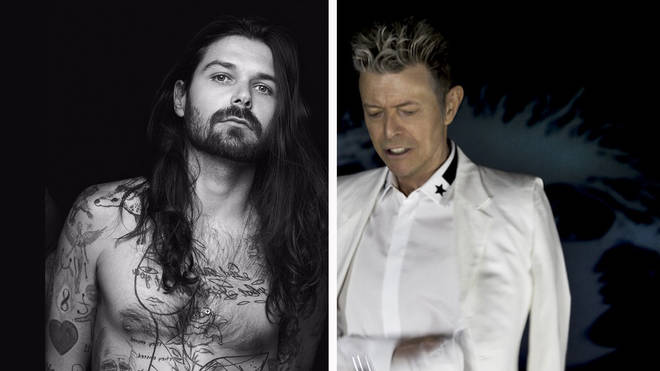 Biffy Clyro's Simon Neil and David Bowie