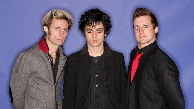 Green Day in 2004: Mike Drint, Billie Joe Armstrong and Tre Cool