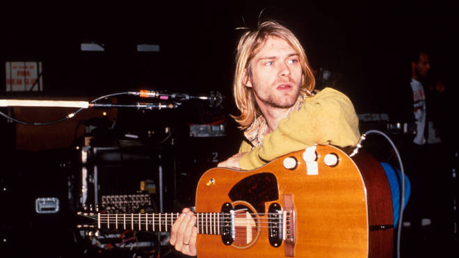 Kurt Cobain of Nirvana during Nirvana in New York in 1990