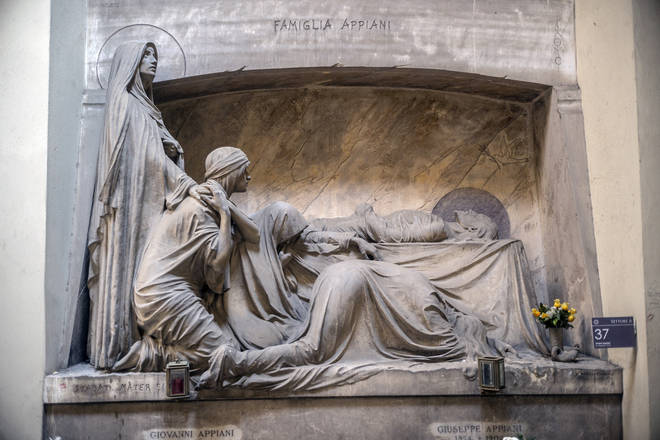 The Appiani Family Tomb In The Staglieno Cimitero Monumentale, Genoa, Italy