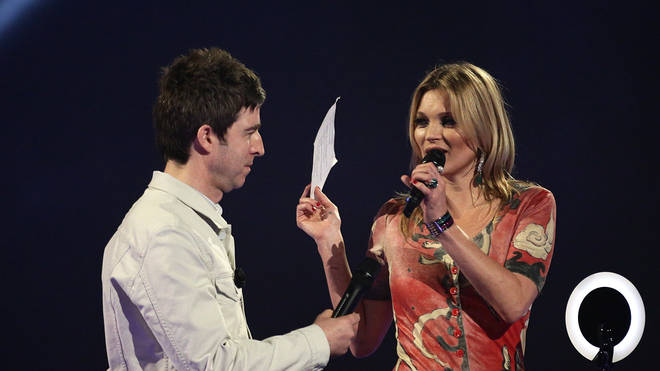 Noel Gallagher and Kate Moss at the BRIT Awards 2014
